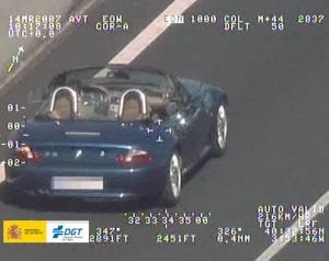 Foto de un coche cazado por un radar - Foto: www.measurecontrol.com