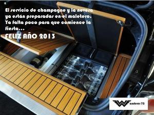 Rolls Royce con servicio de champagne en el maletero