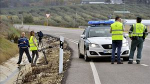 Investigación de un accidente de tráfico - Foto: www.teinteresa.es