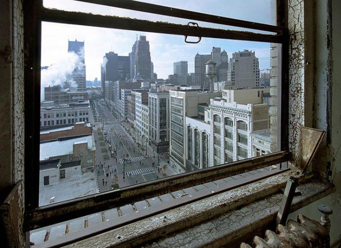 Vista del centro de Detroit desde un edificio abandonado - Foto: http://comerviajaramar.wordpress.com