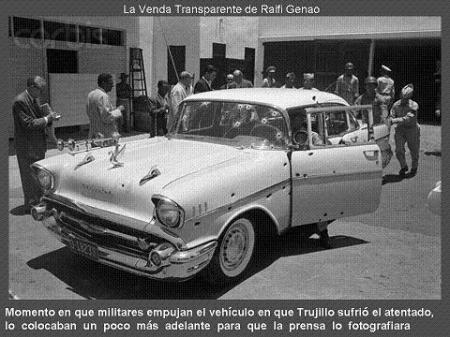 Vehículo en el que fue tiroteado Rafael Leónidas Trujillo - Foto: www.prd-do.com