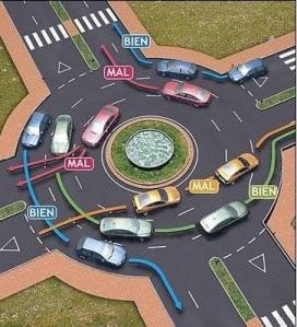 Cómo se debe circular en una rotonda